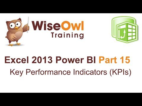 Excel 2013 Power BI Tools Part 15 - Key Performance Indicators (KPIs)