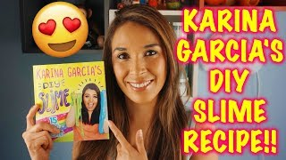Today i'm testing out karina garcia's fluffy slime recipe without borax from her new diy book!! so excited to share with you, kar...