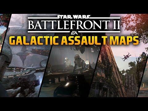 ALL GALACTIC ASSAULT MAPS: Star Wars Battlefront 2 ALL Maps For Galactic Assault