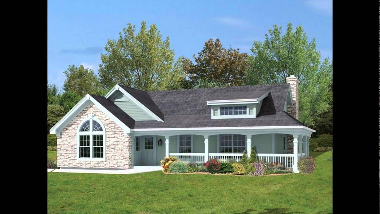 House Plans With Porches | House Plans With Wrap Around Porches   YouTube