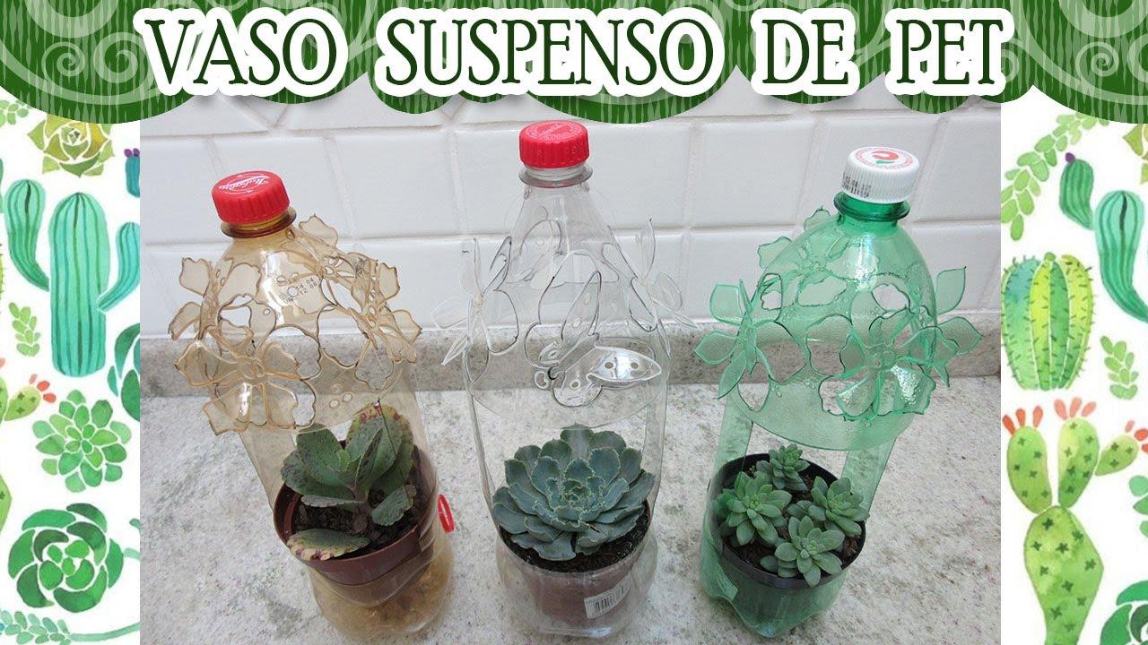 Reciclando garrafa pet vasos para plantas youtube - Como reciclar para decorar ...