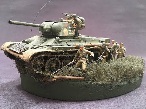 t-34/76-with-soviet-tank-infantry---diorama-1/35