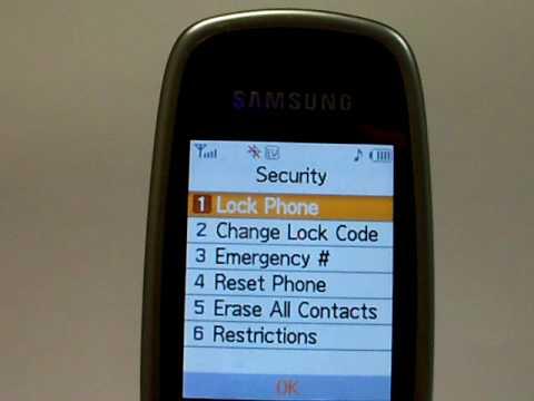 Samsung Hue 2 SCH-R600 Erase Cell Phone Info - Delete Data - Master Clear Hard Reset