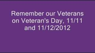 Veteran's Day 11/12/2012 - Free Meals
