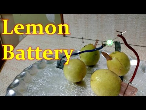 How to Produce Electricity using Lemon-Easy Way