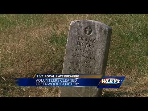 Volunteers clean up Greenwood Cemetery