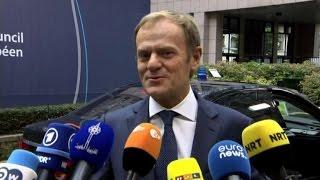"""Tusk accoglie May al summit Ue: """"Benvenuta in un nido di colombe"""""""
