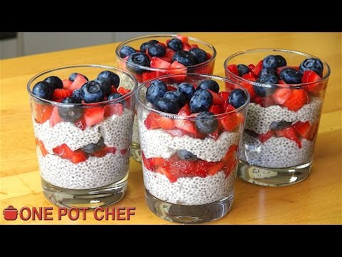 Chia Seed Mixed Berry Puddings | One Pot Chef