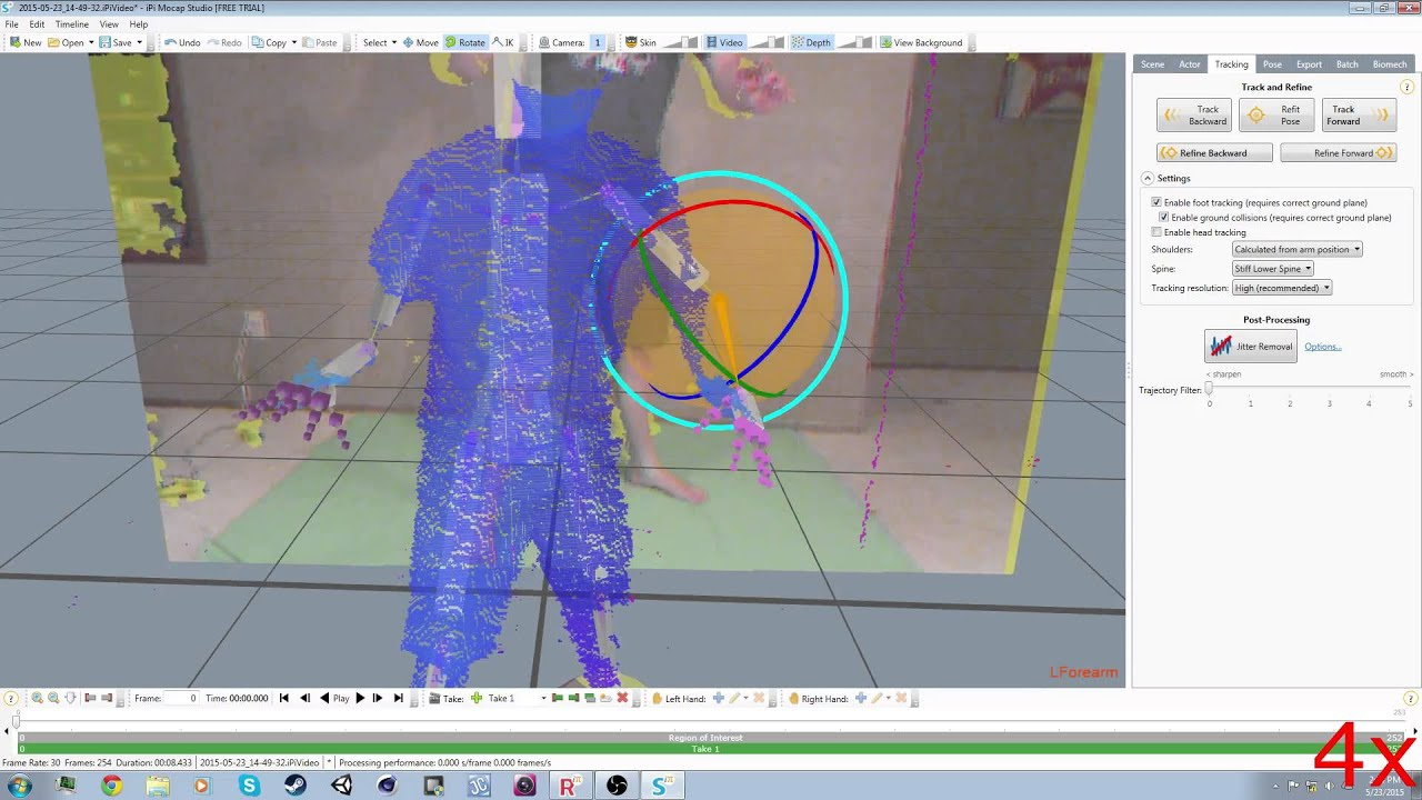 Low Budget Motion Capture with iPi Studio and Microsoft Kinect