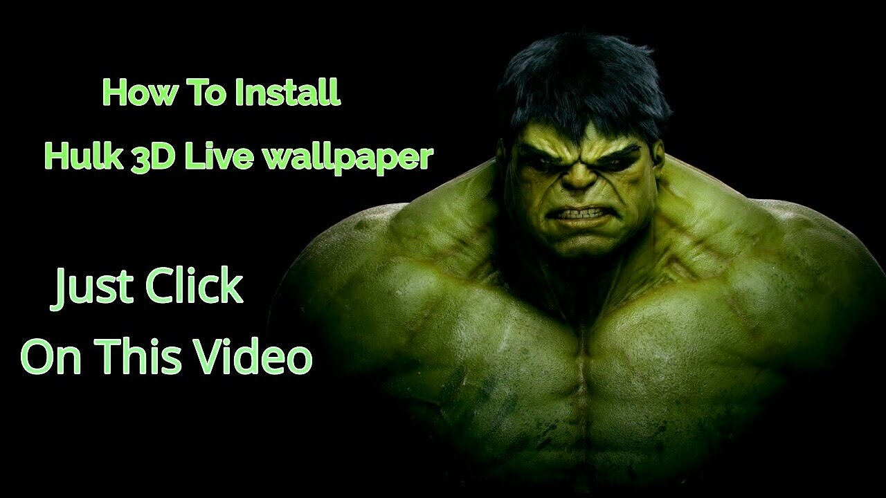 3D Live Wallpaper Hulk LWP
