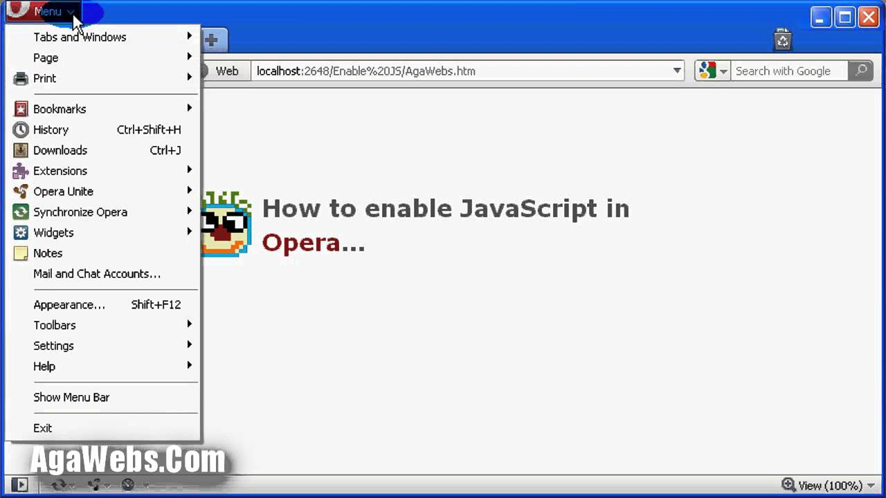How To Enable Javascript In Opera
