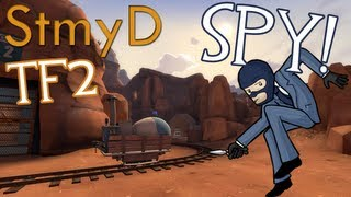 TF2 Spy Stealth on Badwater (Slinking and Stabbing)