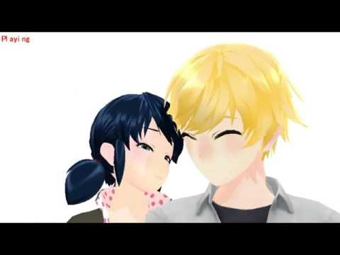 (MMD) Miraculous Ladybug - Cheek kiss