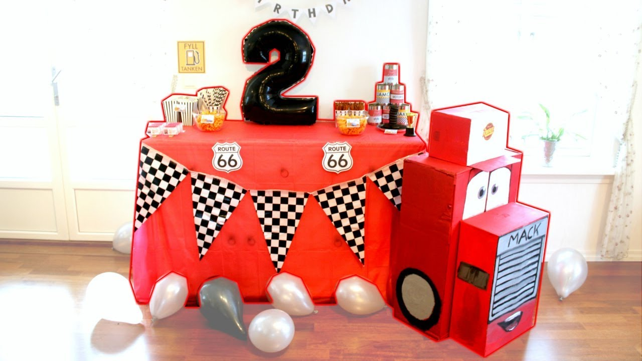 cars themed birthday party liam 2 years old