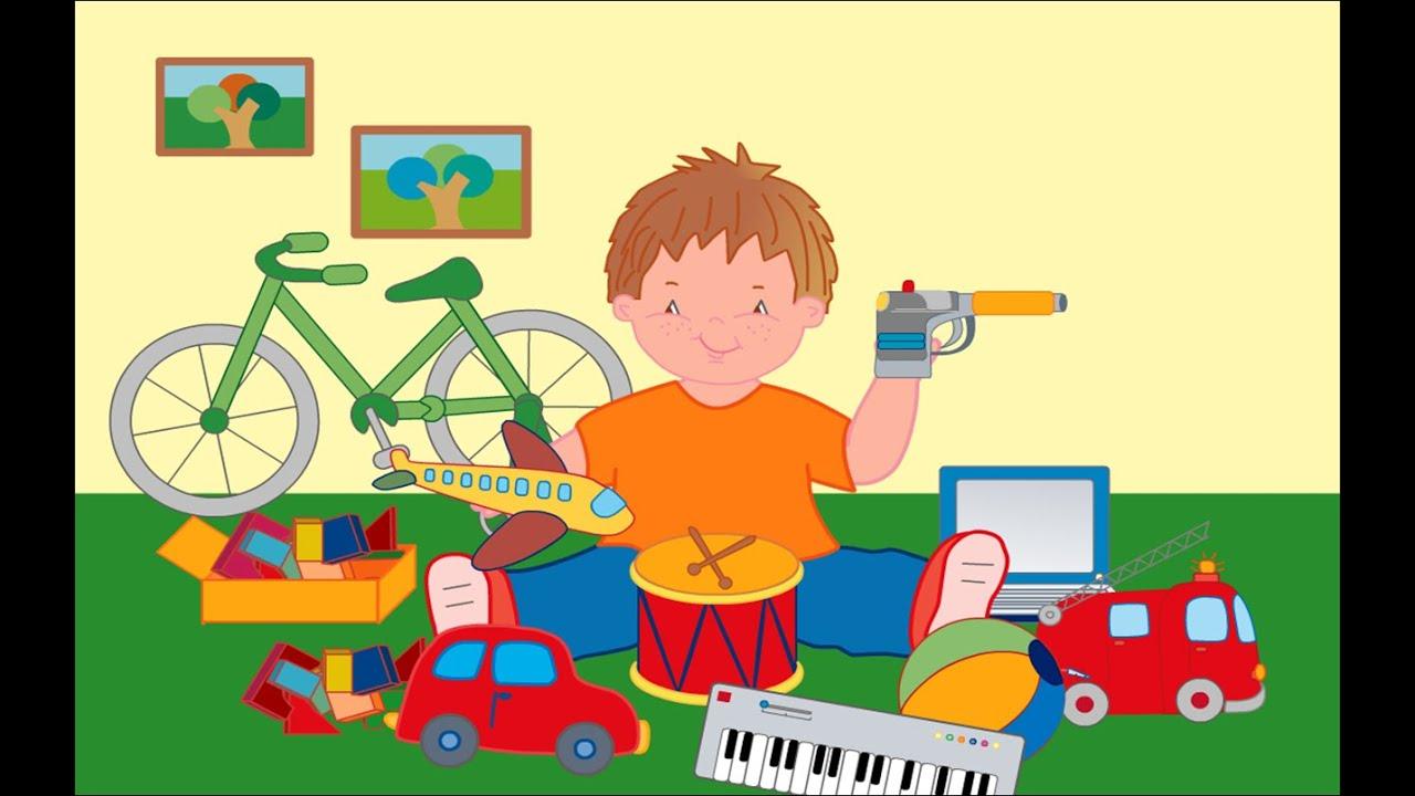 Vídeo para niños Aprende euskera jugando con juguetes