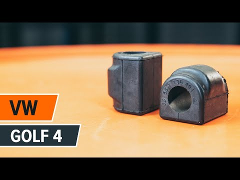 How to replace Front stabilizer bushes on VW GOLF 4 TUTORIAL | AUTODOC