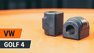 How to replace Sway bar bushes on VW GOLF IV (1J1) - video tutorial
