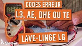 Comment résoudre les codes erreurs de votre machine a laver LG