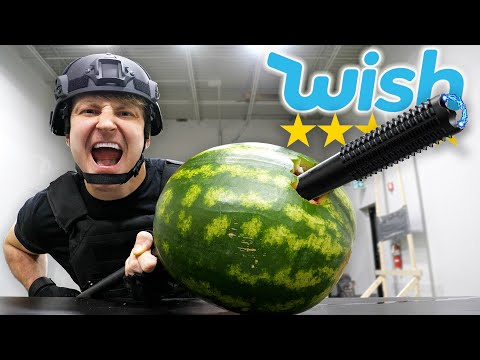 Buying The BEST and WORST Rated Weapons On Wish!!