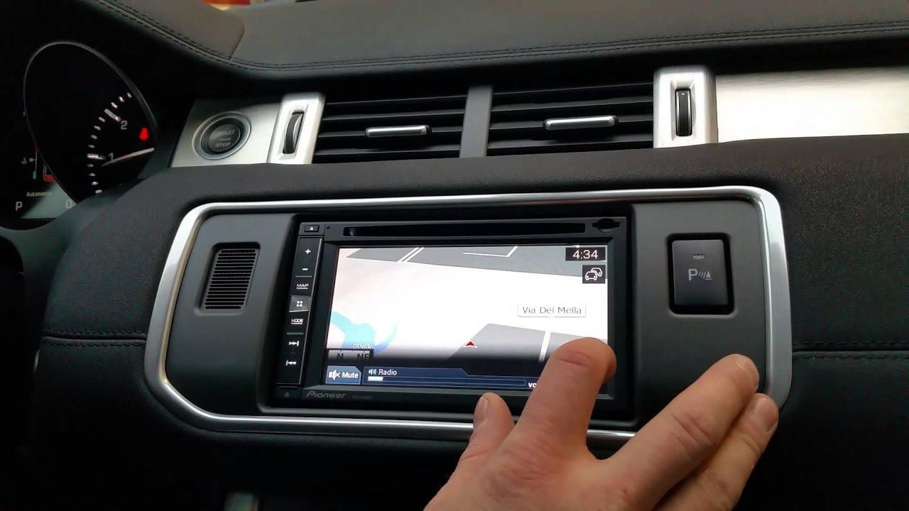 Range Rover Evoque Navigatore 2 Din Aftermarket Youtube
