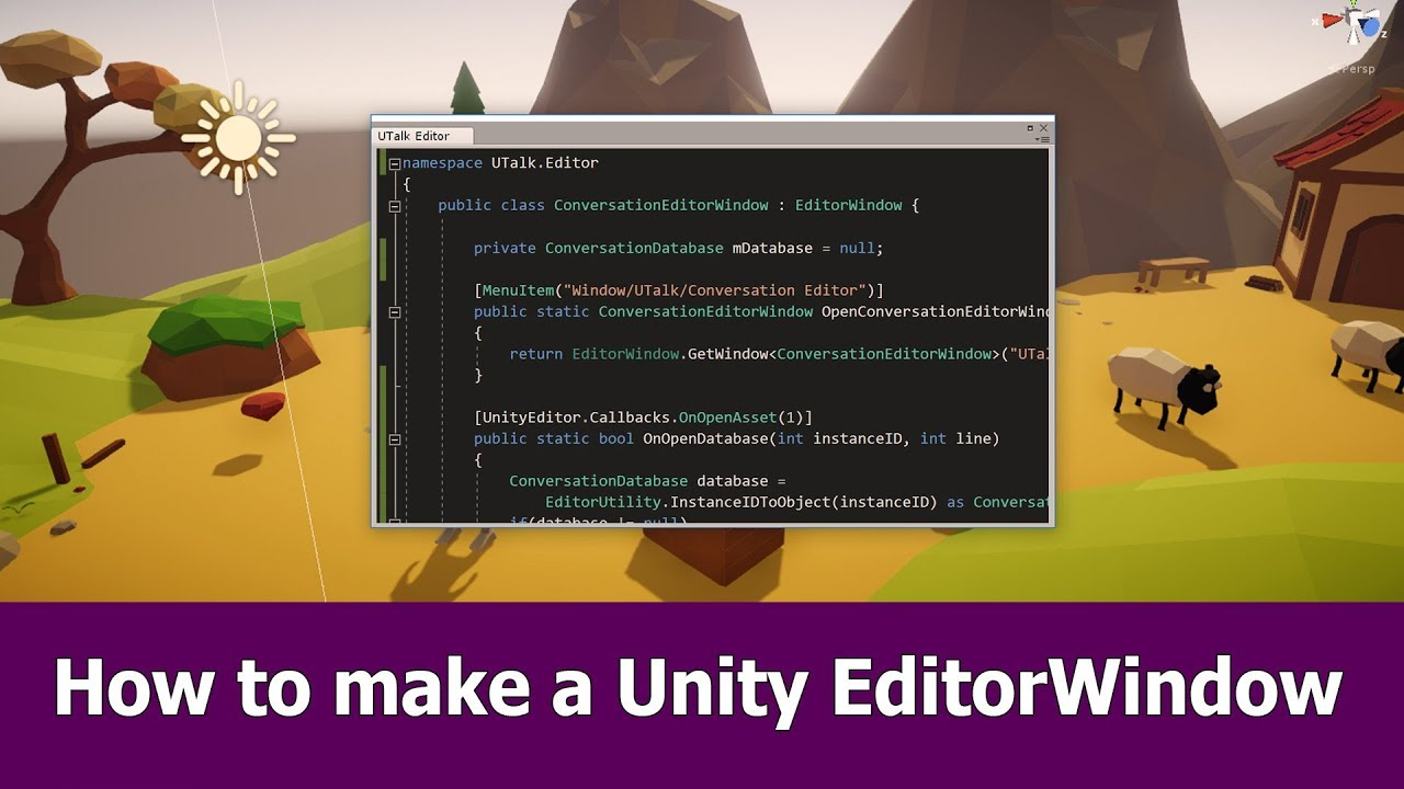 How to Make an EditorWindow in Unity