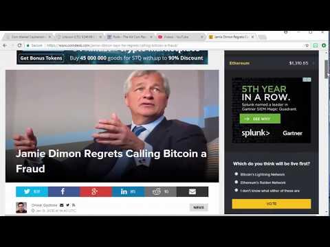 Jamie Dimon Regrets Calling Bitcoin a Fraud