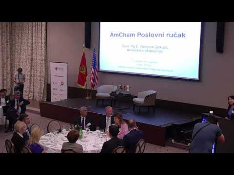 Amcham Business Luncheon with Minister of Economy, October 11, 2017