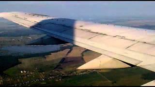 Белавиа. Посадка в Минск-2. Belavia. Landing boeing 737-500  to Minsk-2.mp4