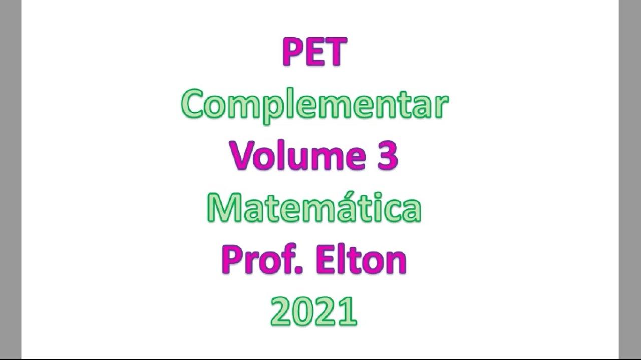 Download PET Complementar - Volume 3 - Plano de Estudo Tutorado - Fazendo 4 semanas em duas!!!