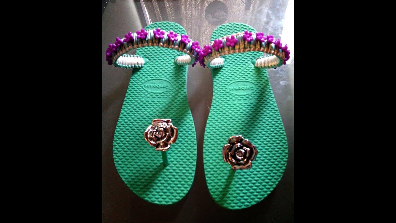 decoracion de sandalias con corte youtube