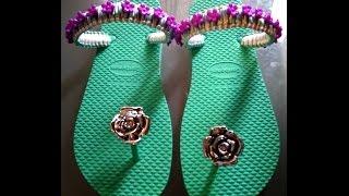Repeat youtube video Decoracion de sandalias con corte