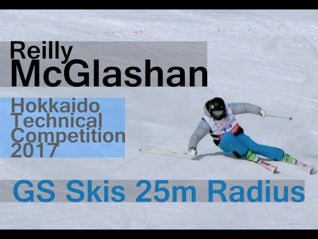 Reilly McGlashan - SKI CARVING Long Turns from Hokkaido Technical Competition 2017