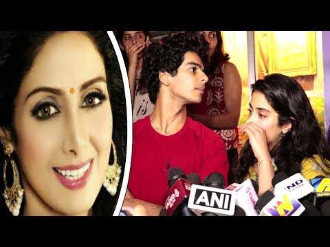 Jhanvi Kapoor BREAKS DOWN Remembering Mom SRIDEVI At DHADAK Movie SUCCESS Celebration With FANS