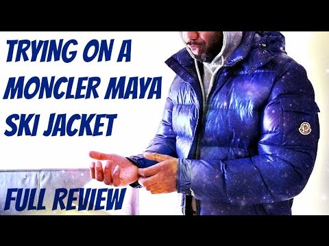 1ee838ecc Trying on MONCLER MAYA PUFFA JACKET | Full Review | TheHoxtonTrend
