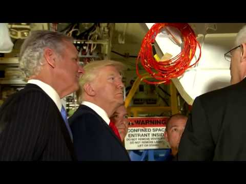 WATCH: President Donald Trump Tours Boeing Facility In South Carolina