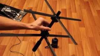 Homemade Satcom antenna.