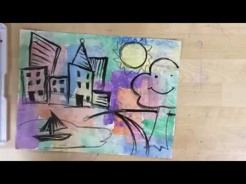 Kids Art Project – Color Block Landscape