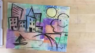 Kids Art Project - Color Block Landscape