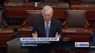 Senate Majority Leader Mitch McConnell on Impeachment