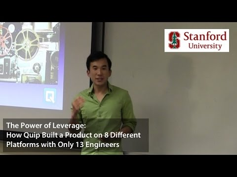 The Effective Engineer: The Power of Leverage | Talks at Stanford