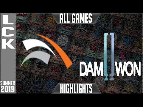 HLE vs DWG Highlights ALL GAMES   LCK Summer 2019 Week 8 Day 4 Hanwha Life Esports vs Damwon Gaming