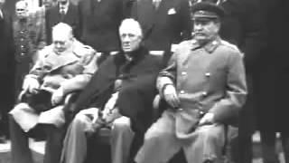 Сталин, Рузвельт, Черчилль - Ялтинская конф. февр. 1945 г.