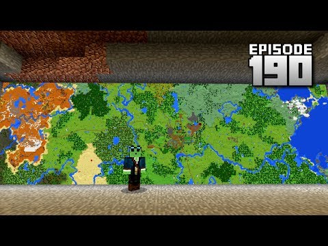Let's Play Minecraft PE - Ep.190 : Ultra Mega Map Wall!