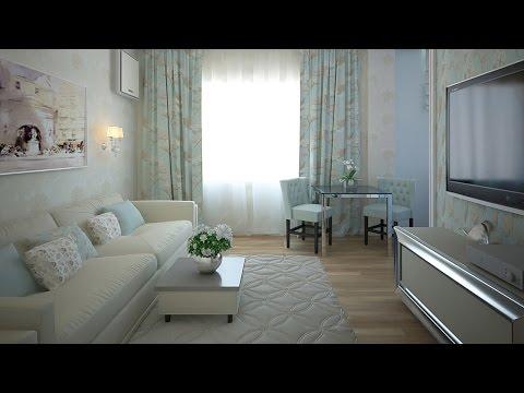 Дизайн 2 комнатной квартиры в стиле Laura Ashley (Лора Эшли), 56 м2