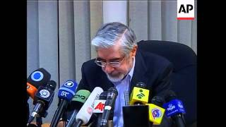 Reformist candidate declares victory in news conference