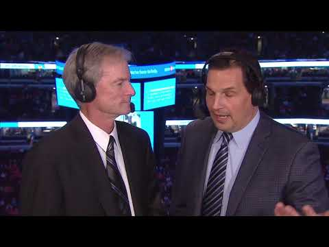 Emotional Pat Foley and Eddie Olczyk  Chicago Blackhawks 1st Int. 10-7-17