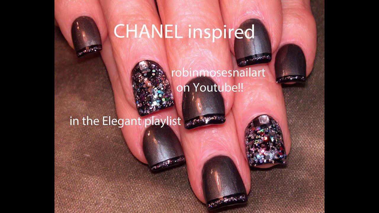Nail Art Design Diy Easy Chanel Nail Art Tutorial Youtube