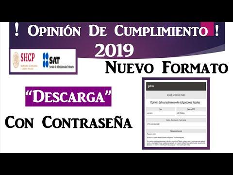 Descargar Opinión de Cumplimiento con Contraseña SAT 2020| Nuevo FormatoKaynak: YouTube · Süre: 2 dakika18 saniye