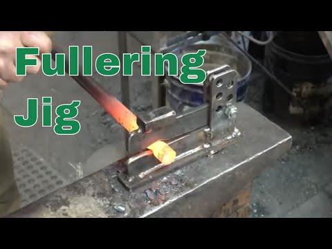 Adjustable fullering jig - blacksmithing tools