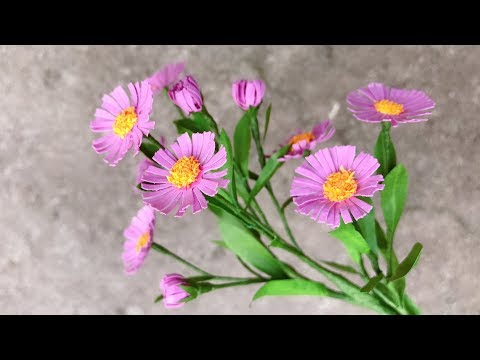 Abc tv how to make aster amellus paper flower with shape punch abc tv how to make aster amellus paper flower with shape punch craft tutorial mightylinksfo